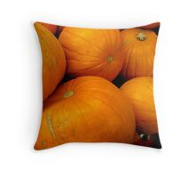 ORANGE PUMPKINS Throw Pillow