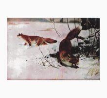Friedrich Wilhelm Kuhnert Americana Fox Red Fox Kids Tee