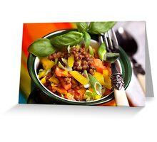 Autumn Lentils Pot Tre Colori Greeting Card