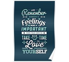 Take Time to Love Yourself Poster