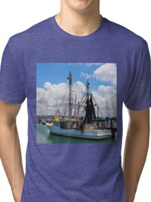 Moored Fishing Boat Tri-blend T-Shirt