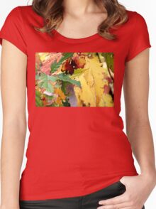 Autumn puzzle Women's Fitted Scoop T-Shirt