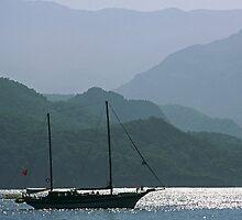Gulet at Gemiler island by Alex Cassels
