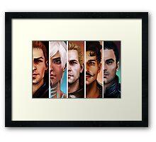 bioware boys + cullen Framed Print