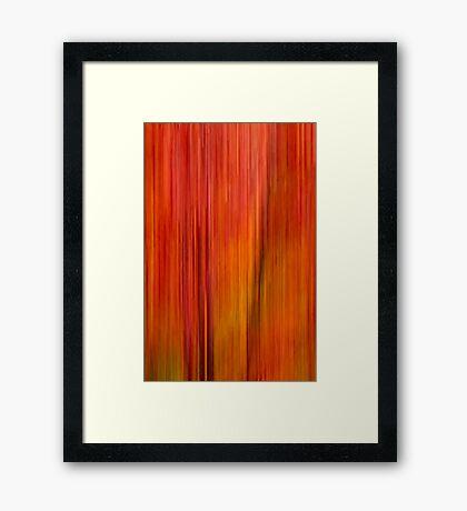 Fall blur Framed Print
