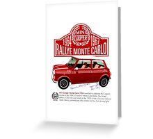 Classic 1994 Mini Cooper Monte Carlo Greeting Card