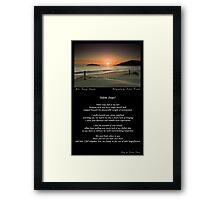 ~ Silent Steps ~ A collaboration with Michael Howard Framed Print