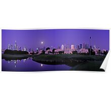 Purple Sunrise Poster