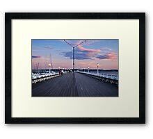 Torquay Pier Framed Print