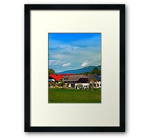 Farms, clouds and the lot Framed Print