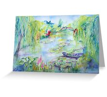 Monet's Water Garden Greeting Card