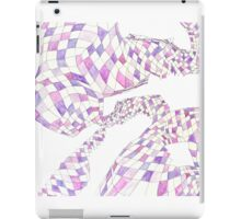 Geometric landscape purple drawing iPad Case/Skin