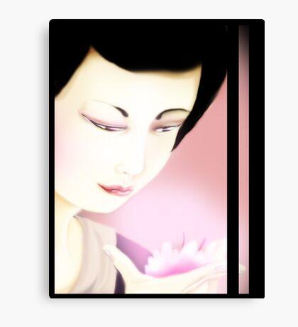 Sakura Geisha Canvas Print