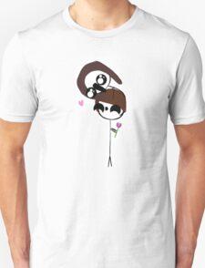 Harrie and Lewie Hug - Flower AU T-Shirt