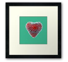 I Heart Strawberries Framed Print