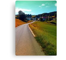Country road, take me nowhere Canvas Print