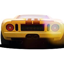illustration of a classic GT 40 by thelazypigeon