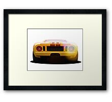 illustration of a classic GT 40 Framed Print