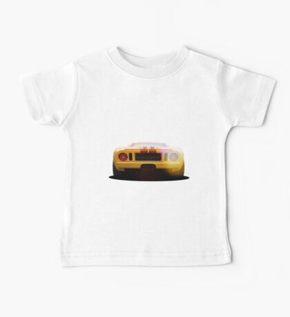 illustration of a classic GT 40 Baby Tee