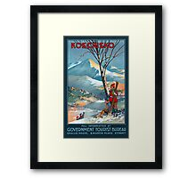 Mount Kosciusko Vintage Travel Poster Restored Framed Print