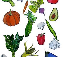 vegetables by hollyobaby
