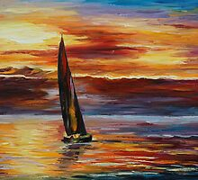 LONELY SAIL - LEONID AFREMOV by Leonid  Afremov