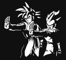 Goku Vegeta Z Fiction funny DBZ Dragon Ball Z Kids Clothes