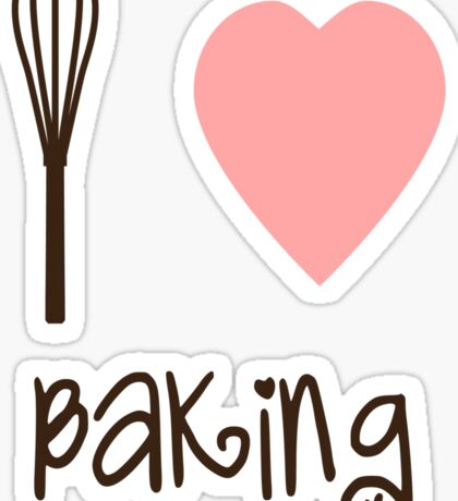 I heart Baking Sticker
