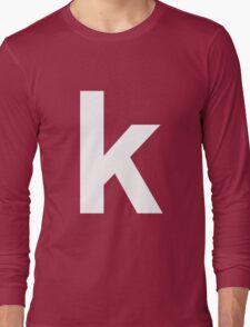 white k Long Sleeve T-Shirt