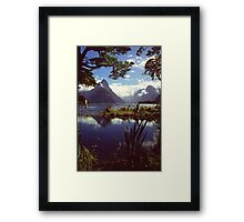Milford Sound in Fiordland National Park Framed Print