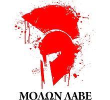 Molon Labe Spartan Photographic Print