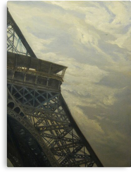 Eiffel Tower -View from Champ de Mars by E.E. Jacks
