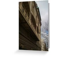 Ornate Balcony Greeting Card