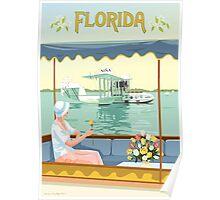 Art Deco Flying Boat - Florida Poster