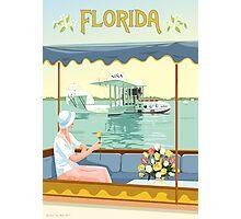 Art Deco Flying Boat - Florida Photographic Print