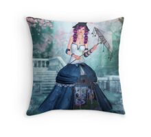 Amusing Muse Throw Pillow