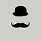 hat and moustache by Alejandro Durán Fuentes