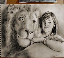 Rebecca's Lion, on the desk. by gr8erAchilles