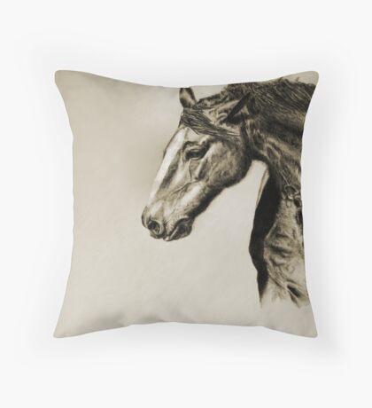 Megan's Horse Throw Pillow