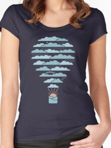 Weather Balloon Women's Fitted Scoop T-Shirt