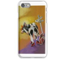 Where the Happy Cows Go, Iphone, by Alma Lee iPhone Case/Skin