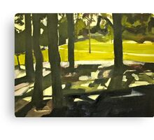 Sunny Park Afternoon  Canvas Print
