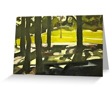 Sunny Park Afternoon  Greeting Card