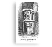 Georg Lilie Salzungen Kanzel Wendelkirche Canvas Print