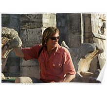 Austin Stevens at Mayan temple Poster