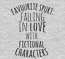 favourite sport: falling in love with fictional characters Womens Fitted T-Shirt