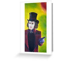Willy Wonka - Johnny Depp Greeting Card