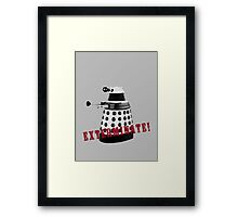Doctor Who, Dalek, exterminate! Framed Print