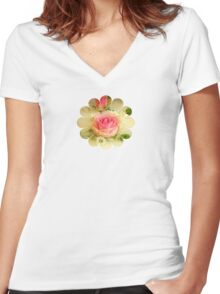 Thank You - Pretty Flowers - JUSTART ©  Women's Fitted V-Neck T-Shirt