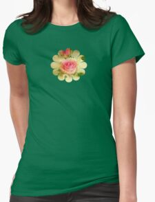 Thank You - Pretty Flowers - JUSTART ©  Womens Fitted T-Shirt